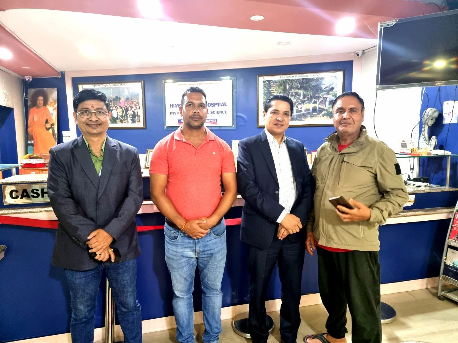 Rishi Dhamala at Himal Dental Hospital